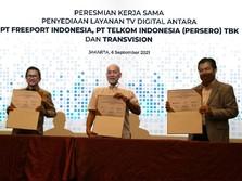 Transvision-Telkom Hadirkan Layanan TV Digital untuk Freeport