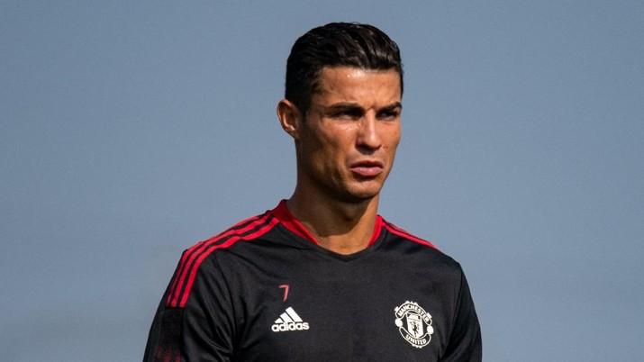 Cristiano Ronaldo latihan bersama Mencester United. (Dok: Twitter Manchester United)