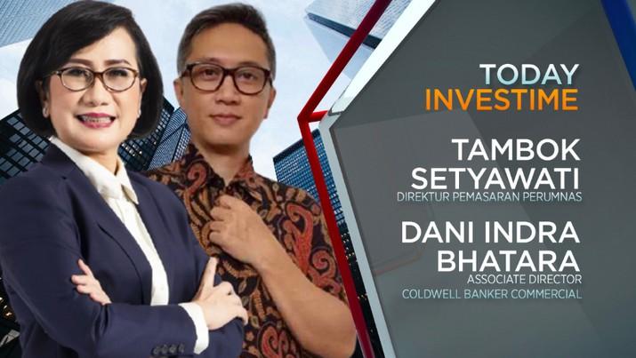 Direktur Pemasaran Perumnas, Tambok Setyawati dan Associate Director Coldwell Banker Commercial, Dani Indra Bhatara
