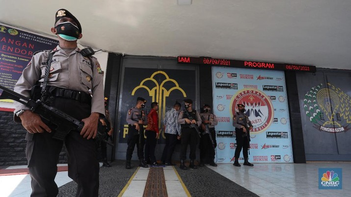 Kebakaran Llpas Kelas I Tangerang di Jl Veteran, Babakan. (CNBC Indonesia/Andrean Kristianto)