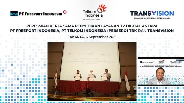 Layanan TV Digital untuk Freeport Indonesia. (Dok: Tangkapan layar)