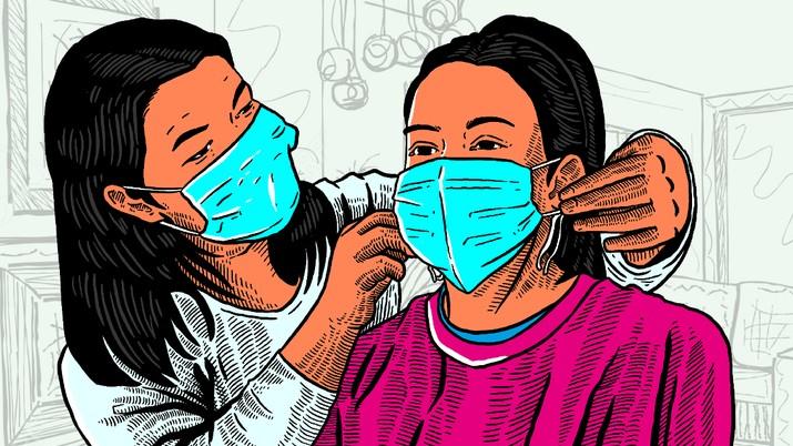 Infografis/ Vaksinasi & Pakai Masker Efektif Cegah Covid-19 Varian Apapun/Aristya Rahadian