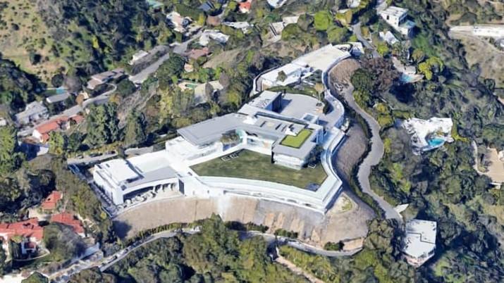 Pemandangan udara dari mansion senilai $500 Juta dolar yang dijuluki