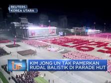 Kim Jong Un Tak Pamerkan Rudal Balistik di HUT Korut