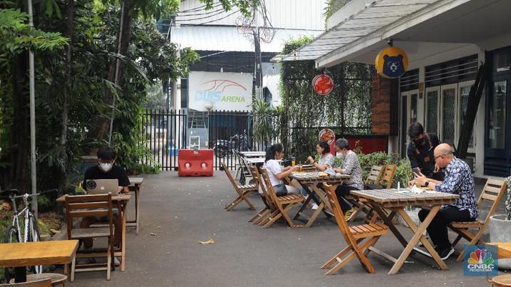 Ilustrasi Cafe (CNBC Indonesia/Andrean Kristianto)