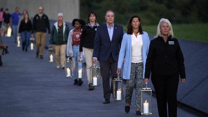 Mengenang tragedi 11 September. (AP/Gene J. Puskar)