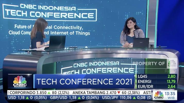 CEO DeBio Network, Pandu Sastrowardoyo di acara CNBC Indonesia Tech Conference