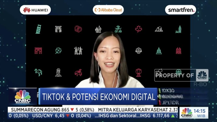 Head of Business Marketing TikTok Indonesia, Sitaresti Astarini di acara CNBC Indonesia Tech Conference
