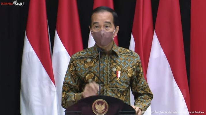 Sambutan Presiden RI Jokowi pada Pertemuan Majelis Rektor Perguruan Tinggi Negeri Indonesia, 13 Sept 2021. (Tangkapan Layar Youtube/Biro Setpres RI)