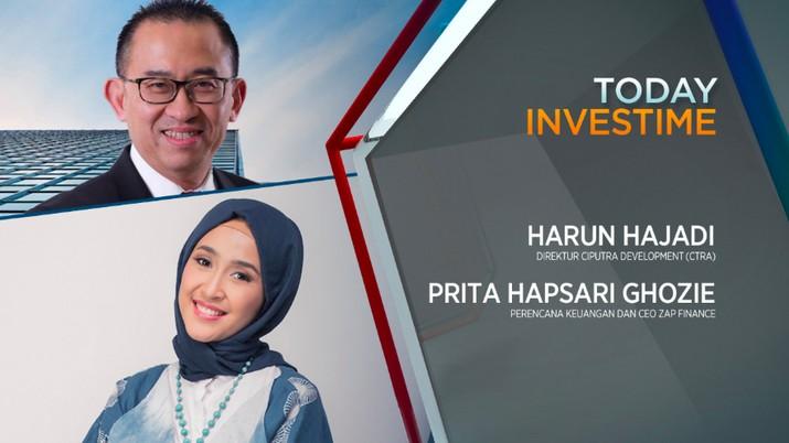 Direktur PT Ciputra Development Tbk (CTRA) Harun Hajadi dan Perencana Keuangan dan CEO Zap Finance, Prita Hapsari Ghozie