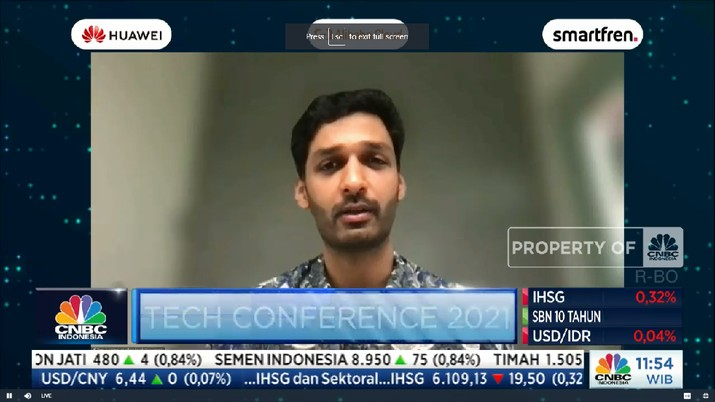 Tom C. Varghese, Head of Connectivity & Access Policy, Facebook APAC di acara CNBC Indonesia Tech Conference
