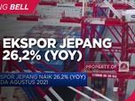 Agustus 2021, Kinerja Ekspor Jepang Naik 26,2%