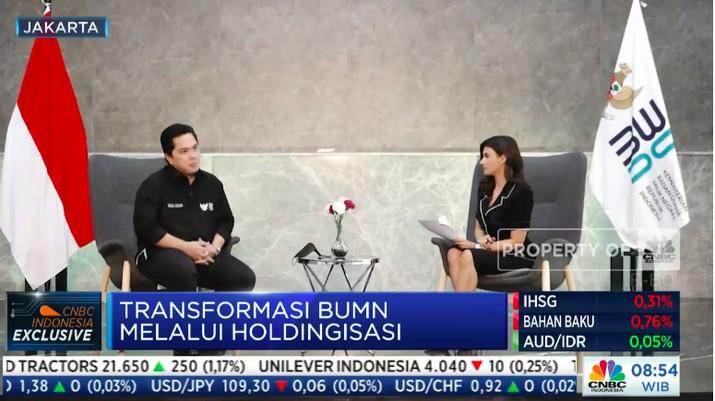 Erick Thohir, interview CNBC Indonesia, 16 September 2021
