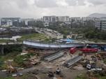 Ngeri! Penampakan Jembatan Layang di India Ambruk, 13 Terluka