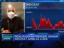 Realisasikan Merger, Saham Indosat Amblas 4,56%