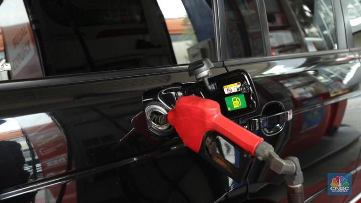 Ilustrasi Pertamax Turbo (CNBC Indonesia/ Tri Susilo)