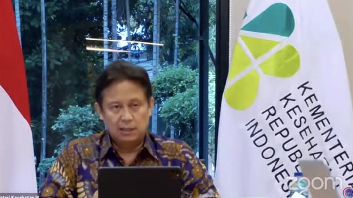 Menteri Kesehatan Budi Gunadi Sadikin saat Konferensi Pers Perkembangan PPKM (Tangkapan Layar Youtube PerekonomianRI)