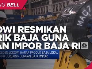 Resmikan Pabrik Baja, Jokowi Targetkan Pengurangan Impor