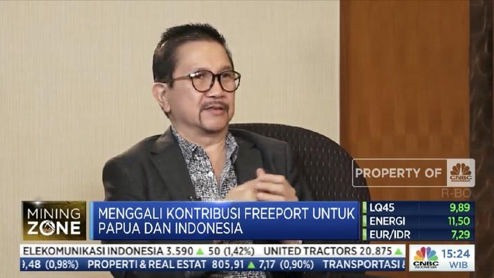 Presiden Direktur PT Freeport Indonesia Tony Wenas