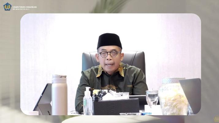Direktur Jenderal (Dirjen) Pajak Suryo Utomo Saat Konferensi Pers APBN KITA September 2021. (Tangkapan Layar Youtube Kemenkeu RI)