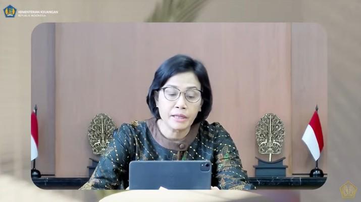 Menteri Keuangan Sri Mulyani Saat Konferensi Pers APBN KITA edisi September 2021. (Tangkapan Layar Youtube Kemenkeu)