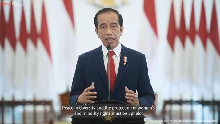 Pidato Presiden Joko Widodo pada Sidang Majelis Umum ke-76 PBB, 23 September 2021 (tangkapan Layar Youtube Sekretariat Presiden)