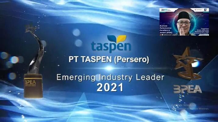 PT Taspen (Persero) berhasil meraih predikat Emerging Industry Leader dalam acara High Level Forum & Penganugerahan Business Performance Excellence Awards (BPEA) 2021.
