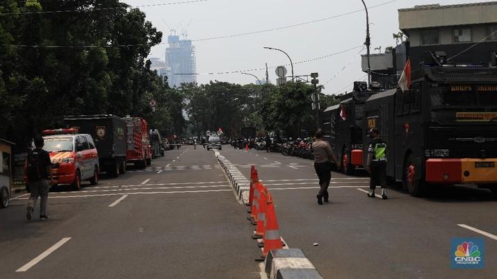 Kondisi terkini gedung KPK (CNBC Indonesia/Muhammad Sabki)