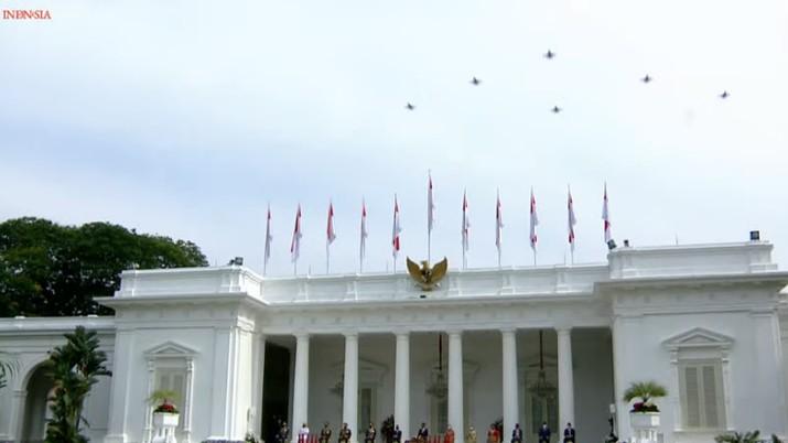 Upacara Peringatan Ke-76 Hari Tentara Nasional Indonesia, 5 Oktober 2021 (Tangkapan Layar Youtube Sekretariat Presiden)
