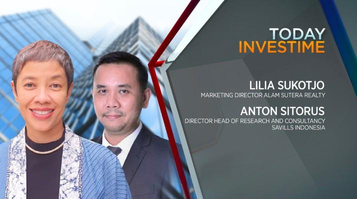 Director, Head of Research and Consultancy Savills Indonesia Anton Sitorus, dan Direktur Marketing PT Alam Sutera Realty Tbk (ASRI) Lilia Suktj