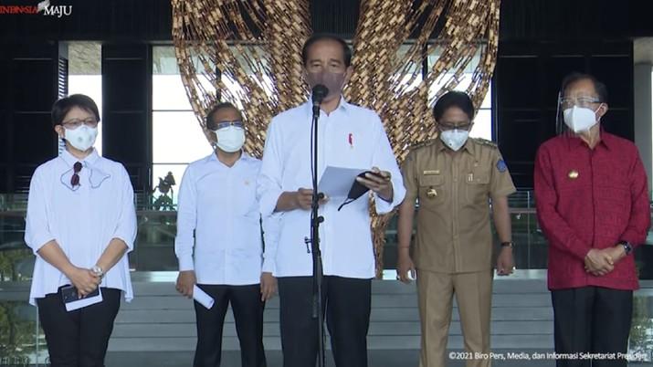 Keterangan Pers Presiden Usai Tinjau Lokasi KTT G20 Indonesia 2022, Nusa Dua, Bali, 8 Okt 2021. (Tangkapan Layar Youtube)