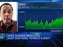 Sukses Rebound, IHSG Bersiap Tembus Level 6.500