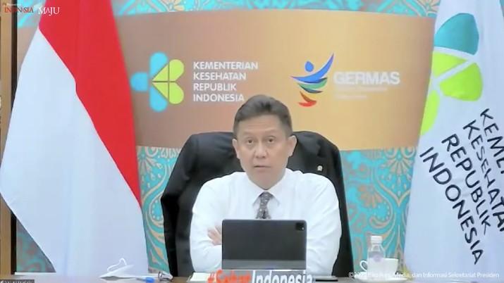 Menteri Kesehatan Budi Gunadi Sadikin Saat Konferensi Pers PPKM, Jakarta,11 Oktober 2021. (Tangkapan Layar Youtube Skretariat Presiden)