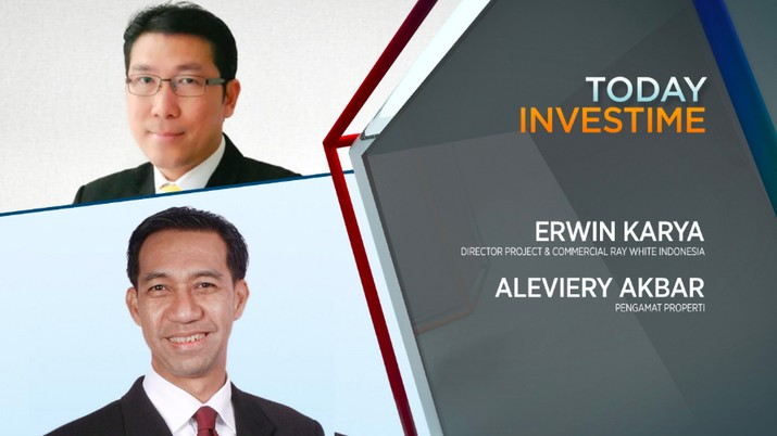 Erwin Karya, Director Project & Commercial Ray White Indonesia dan Aleviery Akbar, pengamat properti