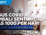Kasus Covid-19 RI Kembali Sentuh di Atas 1000 per Hari