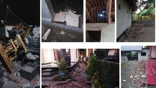 Potret Bangunan Rusak Usai Gempa M 4,8 Bali