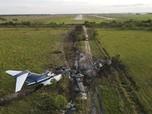 Penampakan Kecelakaan Jet Pribadi AS, Semua Hangus Terbakar